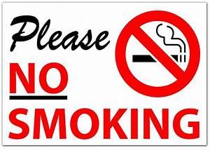 PLEASE NO SMOKING Sticker Sign Vinyl Decal, Modern, Words