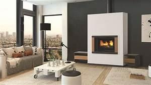Cheminée Bois Design : quelle chemin e ou po le bois pour un salon moderne ~ Premium-room.com Idées de Décoration