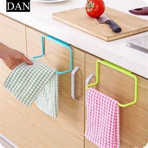 kitchen cabinet wall hangers 1pc door tea towel holder rack rail cupboard hanger 5856