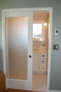 bathroom closet door ideas small and narrow modern minimalist bathroom closet design with single sliding frosted glass door