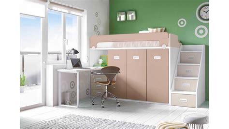 bureau de lit lit mezzanine avec bureau moderne et glicerio so nuit