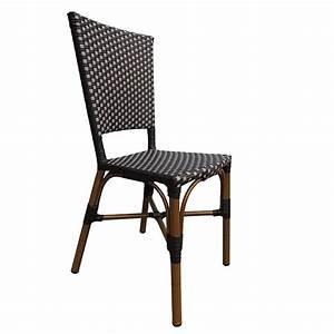 Chaise Rotin Gris : chaise rotin bistrot nylon noir gris cro f084 ng one mobilier ~ Teatrodelosmanantiales.com Idées de Décoration