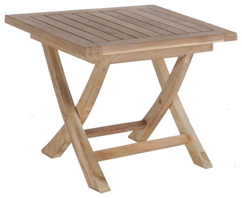 teak titanic folding side table transitional outdoor