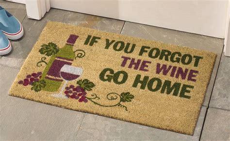 Funny Wine Lovers Coco Fiber Front Door Welcome Mat