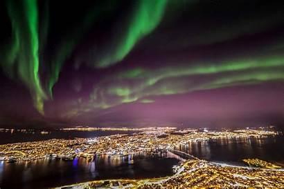 Norway Tromso Northern Lights December Tromsoe Night