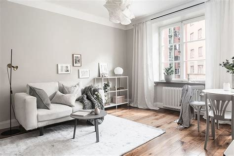 Grey And White Interior Design Inspiration From Scandinavia : Scandinavian Style Living Room In Gray And White