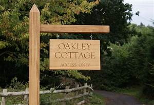 Our, Hanging, Sign, On, Post, U2013, Oak, At, Home