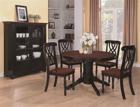black table restaurant coaster 103700 black wood dining table in los