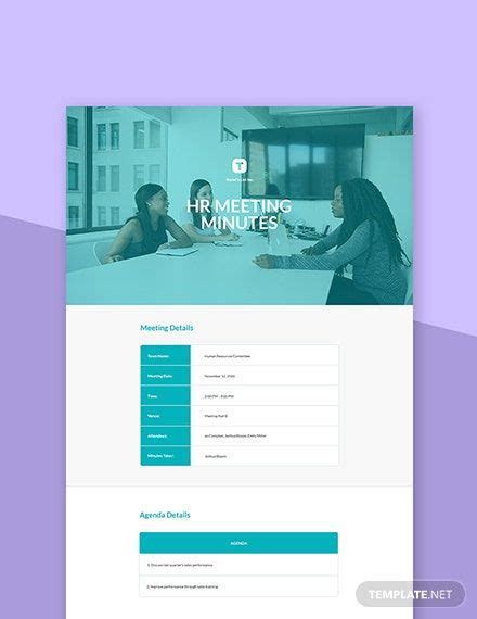 HR Committee Meeting Minutes Template | Templates, Words ...