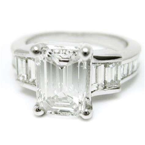 emerald cut diamond engagement ring  emerald cut