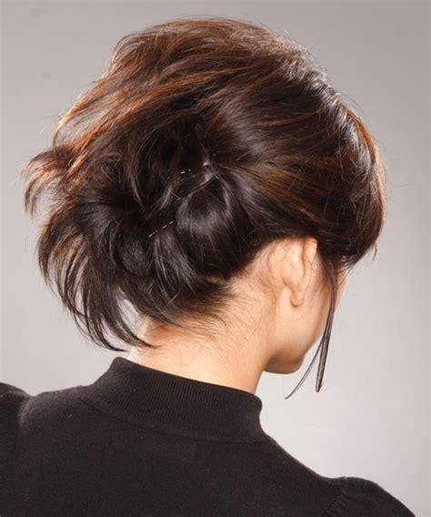 formal medium straight updo hairstyle