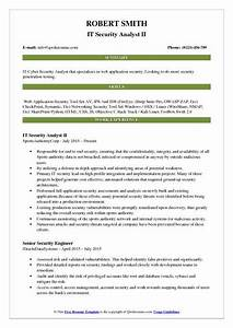 It security analyst resume samples qwikresume for Web application security sample resume