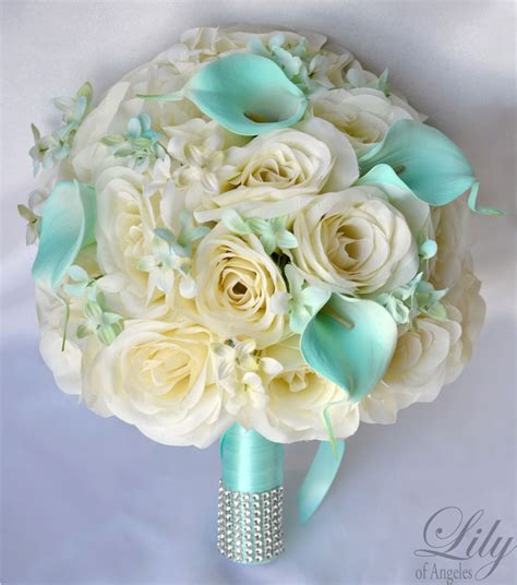 pcs wedding bridal bouquet set silk flower decoration