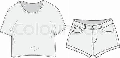Shorts Drawing Shirt Drawings Sketch Vector Paintingvalley