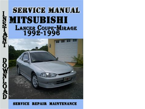 auto repair manual free download 1996 mitsubishi mirage on board diagnostic system mitsubishi lancer coupe mirage 1992 1996 service manual