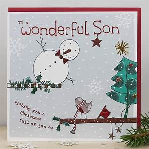 Christmas Card For A Son By Molly Mae Notonthehighstreet Com