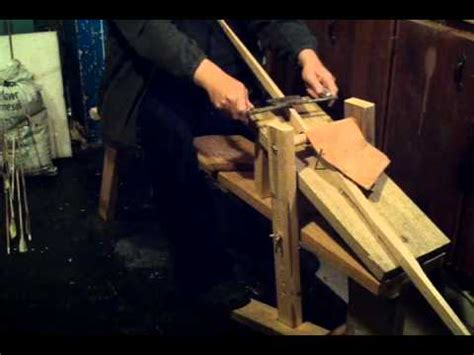 archery homemade draw knife bench youtube
