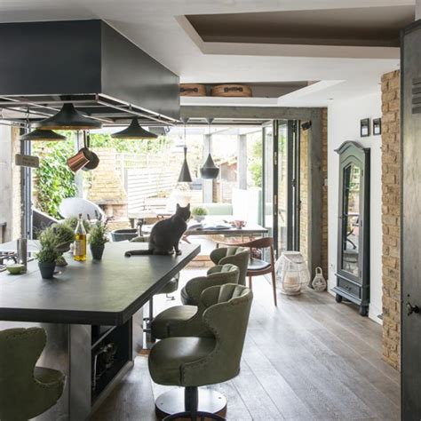 kitchen diner flooring ideas green and wood kitchen diner modern kitchen ideas
