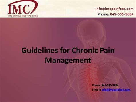 guidelines  chronic pain management