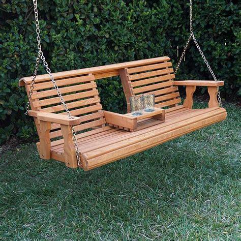 porch swing company porchgate amish heavy duty 700 lb rollback console swing