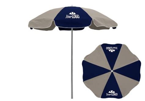 7 5 commercial logo patio umbrella aluminum pole
