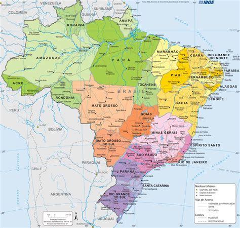 Mapa do Brasil Onde fica o Brasil Alma de Viajante