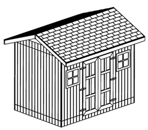White Wood Shed Plans by 10 X 12 Gambrel Shed Plans 5x8 Cargo Storage Shed Design