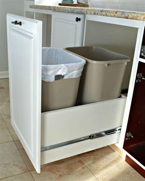 kitchen bin storage solutions easy diy trash drawer for the kitchen storage and 5121