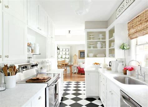cuisine sol blanc carrelage cuisine en noir et blanc 22 intérieurs inspirants