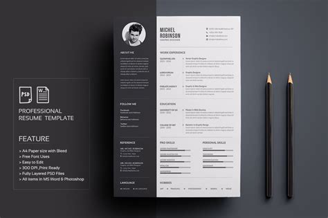 Cv Template Design Free by Resume Cv Resume Templates Creative Market