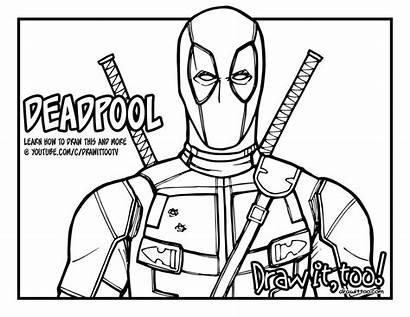 Deadpool Draw Coloring Drawing Pages Juggernaut Too
