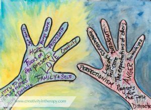 hold       art therapy directive