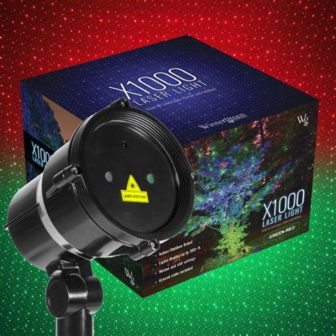 green red  laser christmas light projector