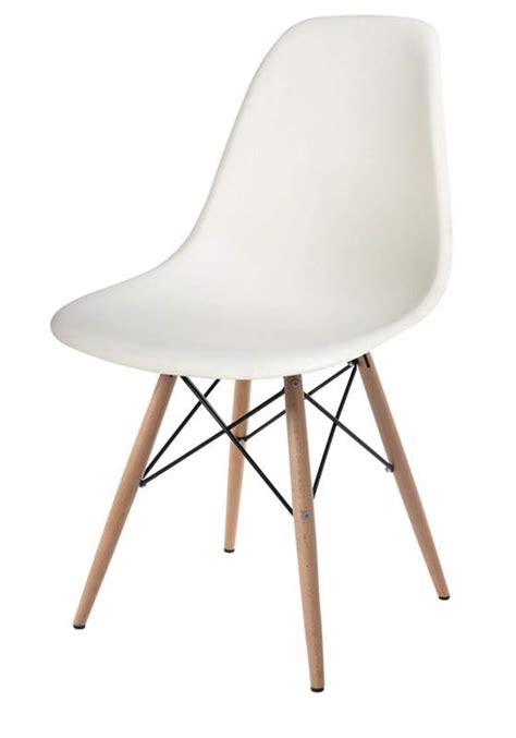 wooden leg white side chair available in 5 colors molded