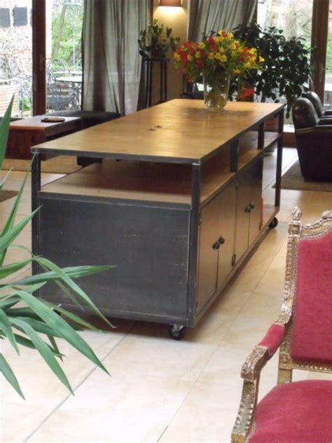 table de cuisine bois  zinc atwebsterfr maison