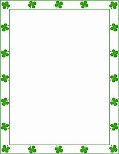 8 Best Images of Printable Shamrock Border - Free ...