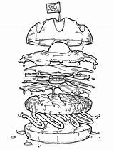 Coloring Burger Pages Egg Peru Fried Flag Colouring Drawing Burgers Colornimbus Toss Getcolorings Printable Dynamite Getdrawings Popular Colorings Knuffle Bunny sketch template