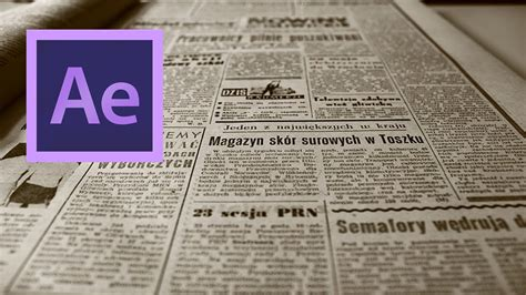 tutorial template newspaper after effects create a video to newspaper front page