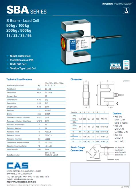 cas sba s type load cell