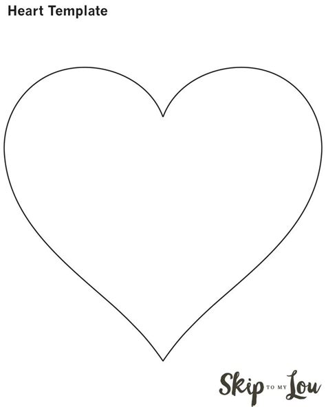valentine heart attack printable heart template heart