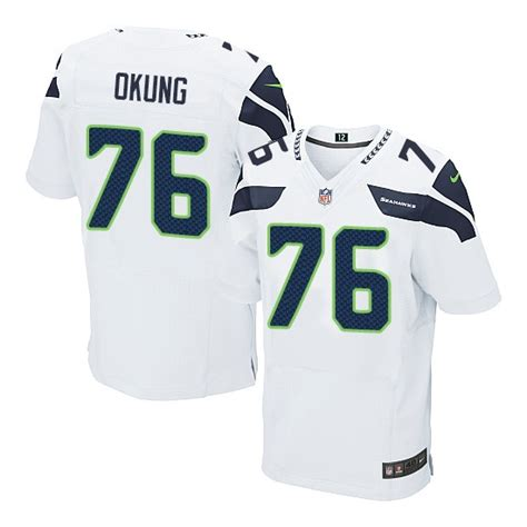 Russell Okung Elite White Jersey Authentic