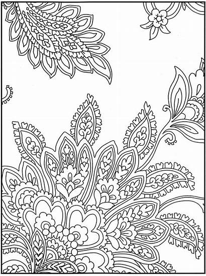 Dover Paisley Coloring Pages Printable Crazy Publications