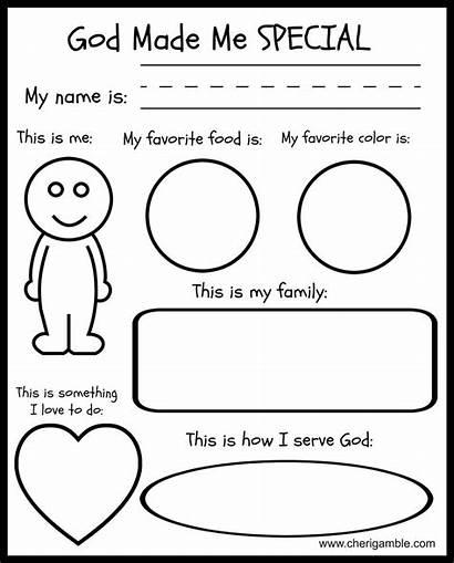 God Special Children Sunday Preschool Bible Printables