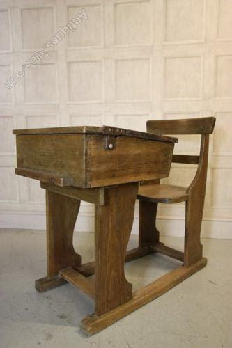 Edwardian Antique Oak Childs School Desk & Chair