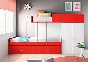 Lit Enfant Double : id es de chambre pour deux et trois enfants ~ Teatrodelosmanantiales.com Idées de Décoration