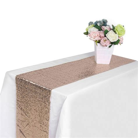 silver glitter table runner 30x275cm gold silver chagne sequin table runner wedding