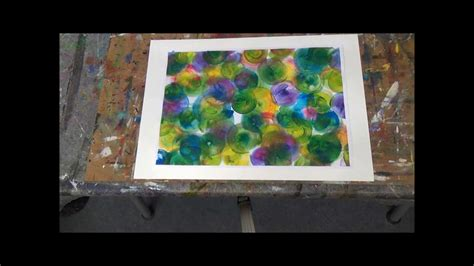 acrylmalerei fuer anfaenger erste schritte bunte blasen