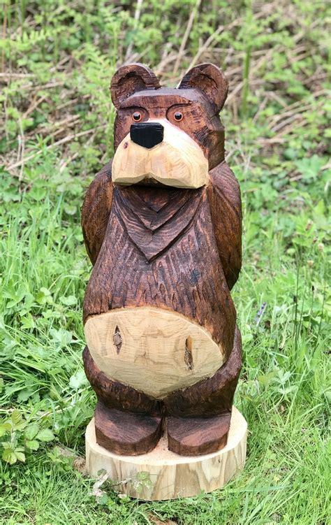library  wooden carved bear png  stock png files