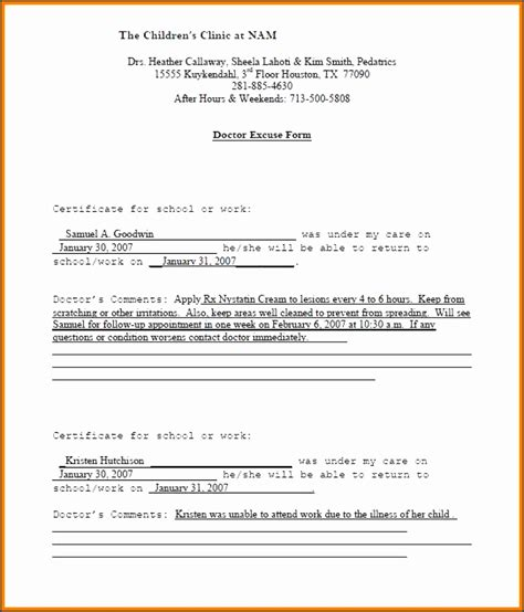 doctors letter 3 doctor notes templates images professional report 42025