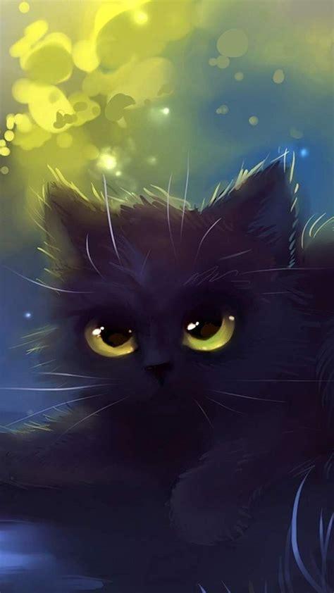 cat wallpaper cartoon eyes black hd cat wallpaper